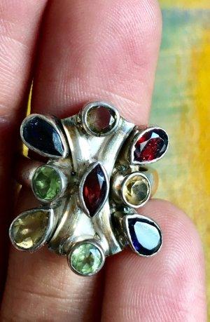 wunderschöner, auffälliger steinbesetzter Silber Ring