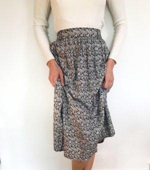 Vintage Jupe taille haute noir-blanc