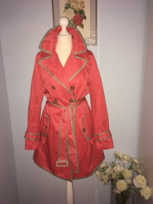 Banana Republic Raincoat beige-bright red