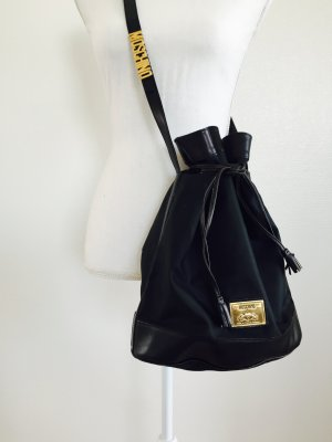 Wunderschöner Beutel von Moschino, schwarz, Teilleder