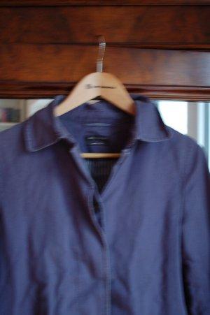 wunderschöner blauer Trenchcoat aus 100%Leinen