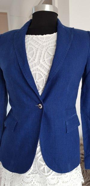 Zara Basic Blazer unisex azul Lino