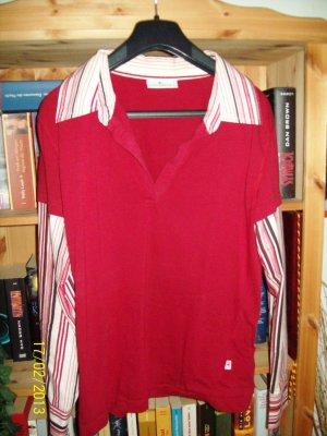Wunderschöner Blusenpullover von TOM TAILOR in Gr. L rot-gestreift NEUWERTIG!