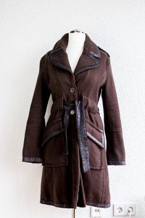 Wunderschöner brauner Toll-Mantel von Da-Nang, kaum getragen, tolle Details. Gr. S/M/36-38