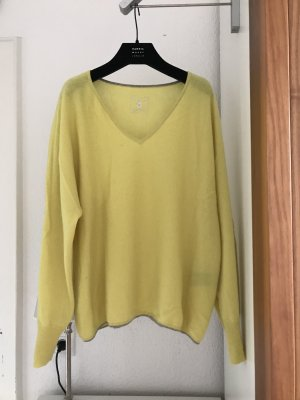 Lodenfrey Cashmere Jumper neon yellow-silver-colored