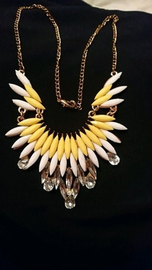 Collier Necklace white-yellow