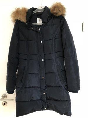 Down Coat dark blue