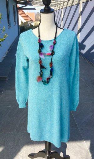 100% Fashion Maglione girocollo azzurro-celeste