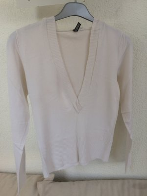 H&M Divided Hooded Sweater natural white viscose