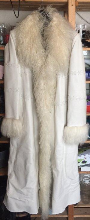 Apart  glamour Leren jas wit