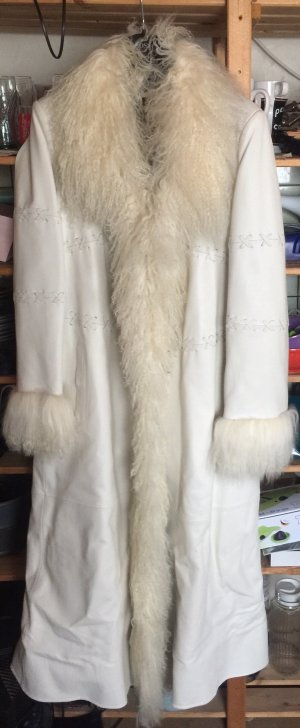 Apart  glamour Leather Coat white