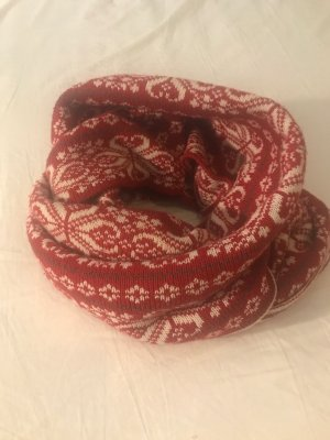 Mexx Tube Scarf red-white cotton
