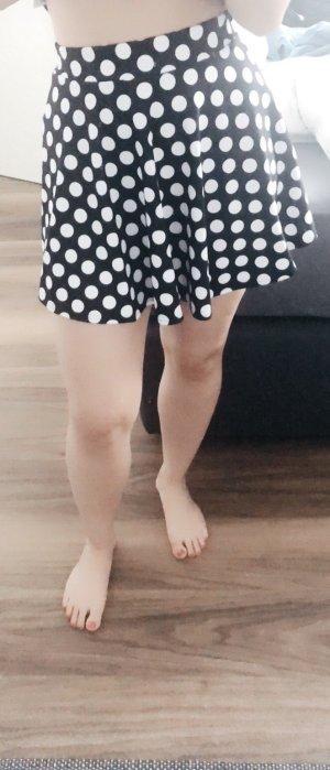 High Waist Skirt black-white