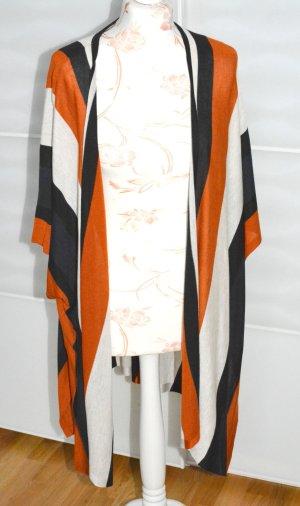 wunderschöner gestreifter oversized Cardigan / Umhang / Jacke / Kimono Größe S/XS