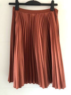 Scotch & Soda Pleated Skirt bronze-colored