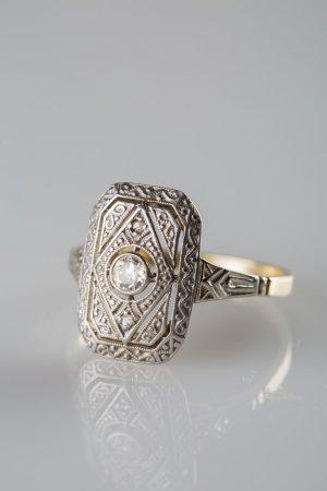Wunderschöner goldener Diamantring 1920er  Vintage