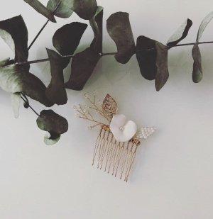 Épingle à cheveux doré-blanc