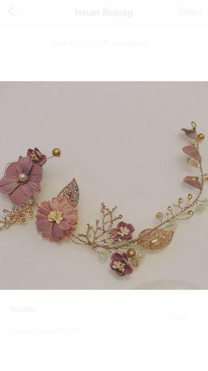 Cerchietto per capelli color oro rosa-oro