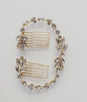 Haarband goud-wit