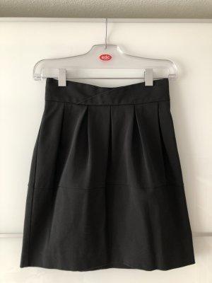 H&M Jupe taille haute noir polyester