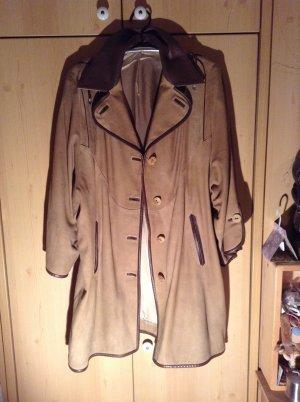 Manteau en cuir brun sable cuir