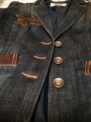 Wunderschöner Jeans- Blazer in Dunkelblau von MOSCHINO 100% Original...Wie NEU!!!! ( NP 800 Euro!!!)Schnäppchenpreis!!