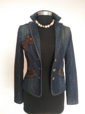 Wunderschöner Jeans- Blazer in Dunkelblau von MOSCHINO 100% Original...Wie NEU!!Schnäppchenpreis!!