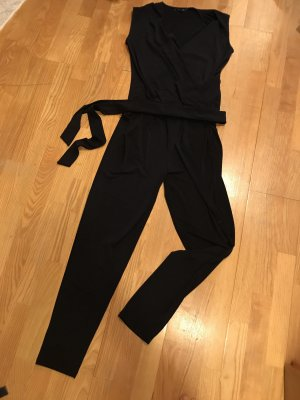 Comma Jumpsuit donkerblauw
