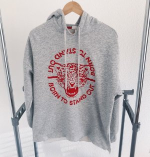 H&M Hooded Sweater light grey-red