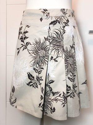Wunderschöner Knielanger Faltenrock mit Blütenmuster von Esprit Gr. 34, mit Unterrock