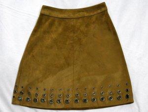 Orsay Jupe en cuir synthétique marron clair-chameau