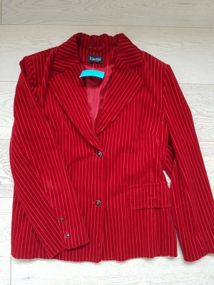 Escada Blazer en laine rouge foncé-rouge brique coton