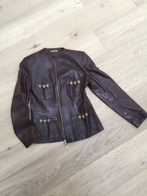 Leather Blazer cognac-coloured leather