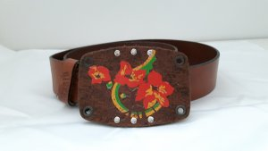 Diesel Leather Belt cognac-coloured leather