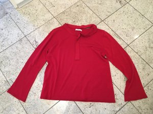 Maglione di lana rosso scuro Lana merino
