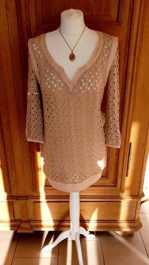 Wunderschöner Luxus Designer Bluse Tunika Oberteil Shirt Pullover