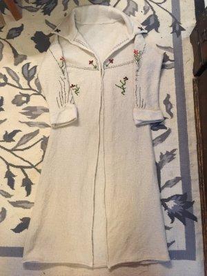 Cappotto in lana bianco sporco