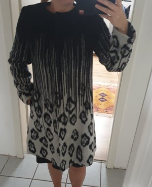 no name Manteau en laine noir-gris