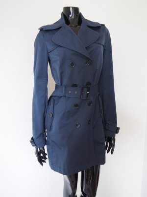 Wunderschöner marineblauer Trenchcoat