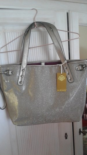 Nurage Shopper silver-colored