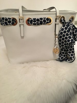 Michael Kors Shopper wit-blauw Leer