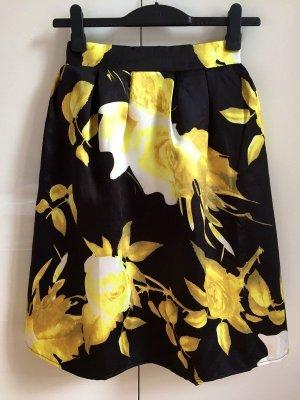 Midi Skirt yellow-black