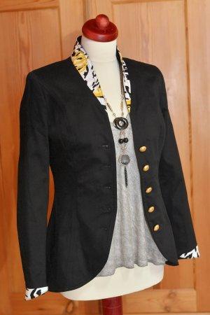wunderschöner Military-Blazer von Harald Glöckler Pompöös 36 S/M Uniform schwarz