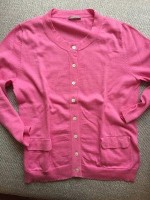 Wunderschöner pinker Cardigan Strickjacke mit 3/4 Ärmel von Hemisphere Gr. S, Kaschmiranteil NP 220€