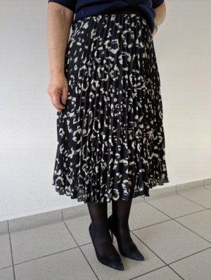 HM Jupe plissée blanc-noir