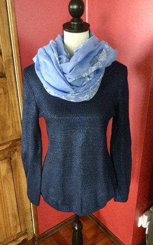 100% Fashion Crewneck Sweater dark blue