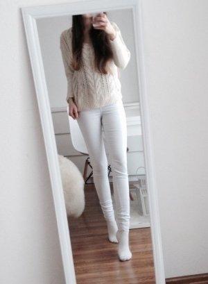 Wunderschöner Pullover H&M 34 XS Zopfmuster beige nude creme Grobstrick Pulli