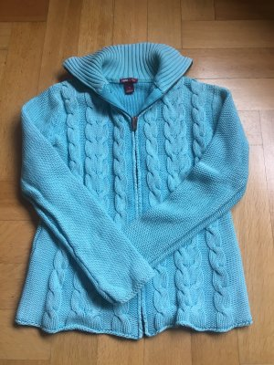 H&M Cable Sweater turquoise