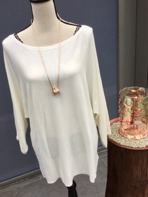 100% Fashion Jersey de cuello redondo blanco puro-blanco
