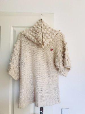 Only Sweater met korte mouwen wolwit-rood